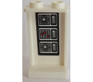 LEGO Panel 1 x 2 x 3 with Sticker from Set 8639 with Side Supports - Hollow Studs (74968)