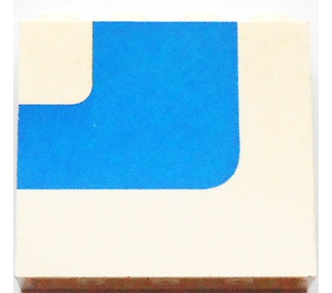 LEGO Panel 1 x 4 x 3 Left with Blue Stripe without Side Supports, Solid Studs (4215)