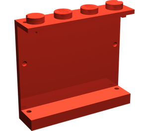 LEGO Panel 1 x 4 x 3 with Lower-Left Black Triangle without Side Supports, Solid Studs (4215)