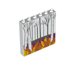 LEGO Panel 1 x 6 x 5 with Autumn Woodland Decoration (60812)