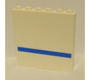 LEGO Panel 1 x 6 x 5 with Blue Stripe Outside Sticker (59349)