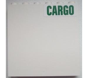 LEGO Panel 1 x 6 x 5 with Cargo Sign (Right) Sticker (59349)