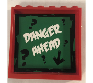 LEGO Panel 1 x 6 x 5 with Danger Ahead and question marks Sticker (35286)