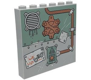 LEGO Panel 1 x 6 x 5 with Decoration (35286 / 47702)