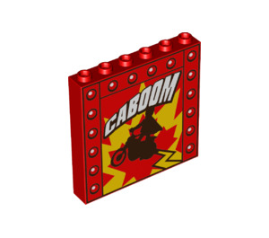 LEGO Panel 1 x 6 x 5 with Decoration (50133)