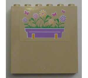 LEGO Panel 1 x 6 x 5 with Flower Box and Butterflies (Right) Sticker (59349)