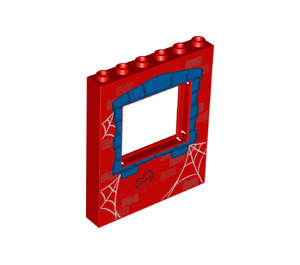 LEGO Panel 1 x 6 x 6 with Window Cutout with Decoration (15627 / 36809)