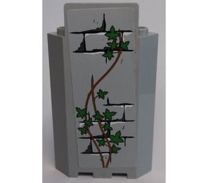 LEGO Panel Wall 3 x 3 x 6 Corner with Bricks, Ivy Trunks and 14 Leaves Sticker without Bottom Indentations (87421)