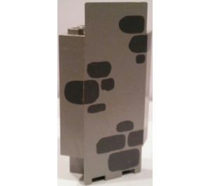 LEGO Panel Wall 3 x 3 x 6 Corner with Dark Gray Stones with Bottom Indentations (2345)