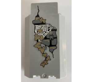 LEGO Panel Wall 3 x 3 x 6 Corner with dark tan ivy and spider web Sticker without Bottom Indentations (87421)