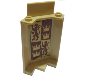 LEGO Panel Wall 3 x 3 x 6 Corner with Gryffindor Banner Sticker without Bottom Indentations (87421)