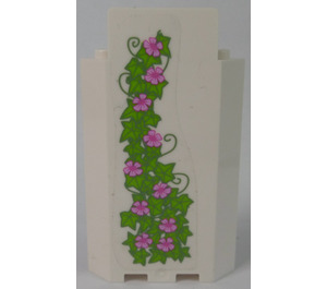 LEGO Panel Wall 3 x 3 x 6 Corner with Ivy and Flowers (Left) Sticker without Bottom Indentations (87421)