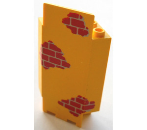 LEGO Panel Wall 3 x 3 x 6 Corner with Red Bricks with Bottom Indentations (2345)