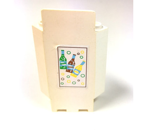 LEGO Panel Wall 3 x 3 x 6 Corner with Sticker from Set 6414 with Bottom Indentations (2345)