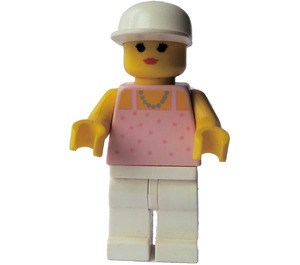 LEGO Paradisa Female with Pink Top, White Legs and White Hat Minifigure