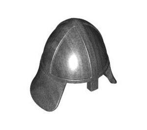 LEGO Pearl Dark Gray Knights Helmet with Neck Protector (3844)