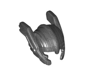 LEGO Pearl Dark Gray Minifigure Helmet (30982)