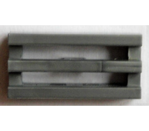 LEGO Pearl Dark Gray Tile 1 x 2 Grille (with Bottom Groove) (2412)