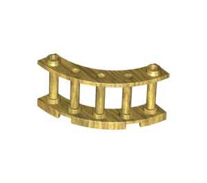 LEGO Pearl Gold Fence Spindled 4 x 4 x 2 Quarter Round with 2 Studs (30056)