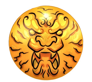 LEGO Pearl Gold Ninjago Lion Head Shield