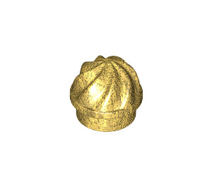 LEGO Pearl Gold Plate 1 x 1 Round with Swirled Top (15470)