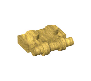 LEGO Pearl Gold Plate 1 x 2 with Handle (Open Ends) (2540)