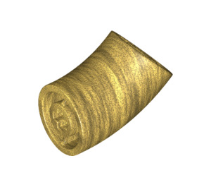LEGO Pearl Gold Round Brick with 45 Degree Elbow (65473)