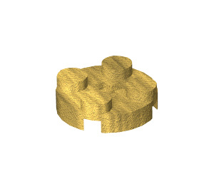 LEGO Pearl Gold Round Plate 2 x 2 with Axle Hole (with '+' Axle Hole) (4032)