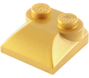 LEGO Pearl Gold Slope Curved 2 x 2 with Curved End (47457)