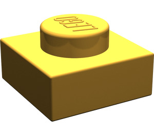 LEGO Pearl Light Gold Plate 1 x 1 (3024)