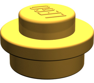 LEGO Pearl Light Gold Round Plate 1 x 1 (6141)