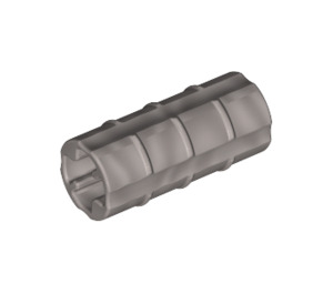 LEGO Pearl Light Gray Axle Connector (Ridged with 'x' Hole) (6538)