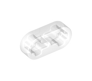 LEGO Pearl Light Gray Beam 2 x 0.5 with Axle Holes (41677)