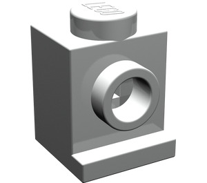 LEGO Pearl Light Gray Brick 1 x 1 with Headlight and No Slot (4070)