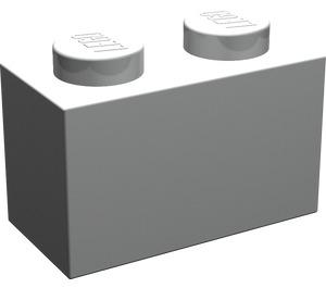 LEGO Pearl Light Gray Brick 1 x 2 (3004)