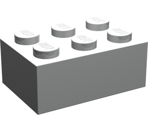 LEGO Pearl Light Gray Brick 2 x 3 (3002)