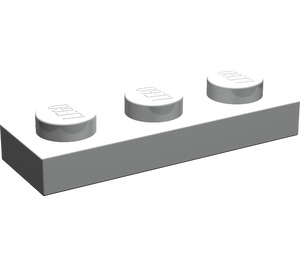 LEGO Pearl Light Gray Plate 1 x 3 (3623)