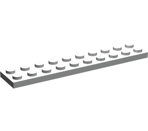 LEGO Pearl Light Gray Plate 2 x 10 (3832)