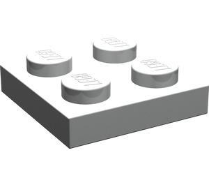 LEGO Pearl Light Gray Plate 2 x 2 (3022)