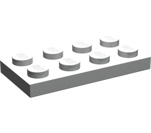 LEGO Pearl Light Gray Plate 2 x 4 (3020)