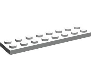 LEGO Pearl Light Gray Plate 2 x 8