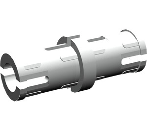 LEGO Pearl Light Gray Technic Pin with Lengthwise Friction Ridges and Center Slots