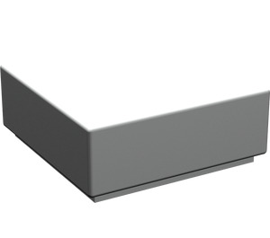 LEGO Pearl Light Gray Tile 1 x 1 with Groove (3070)