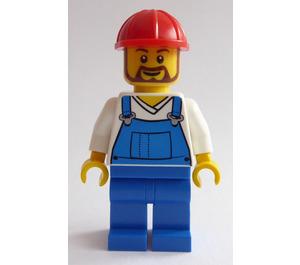 LEGO Pencil Pot Construction Worker Minifigure