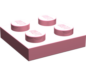 LEGO Pink Plate 2 x 2 (3022)
