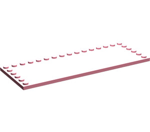 LEGO Pink Tile 6 x 16 with Studs on 3 Edges (6205)