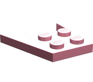 LEGO Pink Wedge Plate 3 x 4 without Stud Notches (4859)