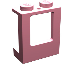 LEGO Pink Window 1 x 2 x 2 with 2 Holes in Bottom