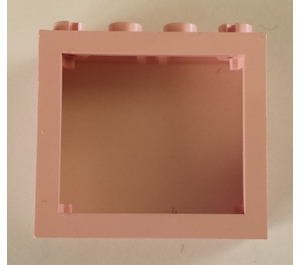 LEGO Pink Window 2 x 4 x 3 with Rounded Holes