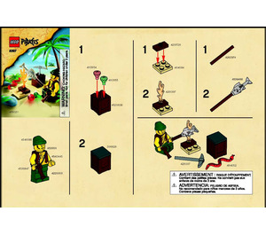 LEGO Pirate Survival Set 8397 Instructions